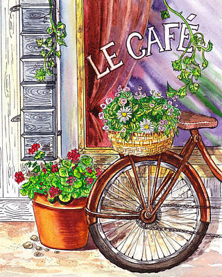 Painting - French Cafe by Irina Sztukowski