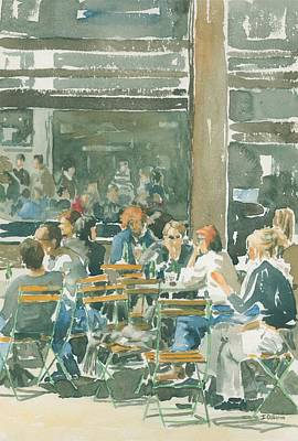 French Cafe Scene  Original by Ian Osborne