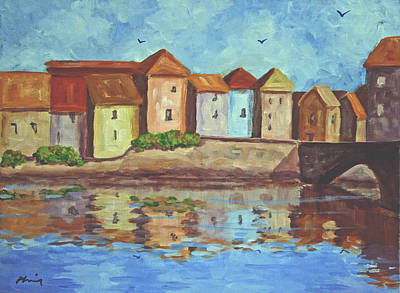 Bob Phillips Surf Art Painting - French Canal by Bob Phillips