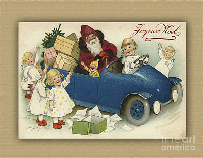 Photograph - French Children Wishing A Joyeux Noel by Melissa Messick