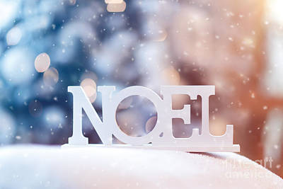 Photograph - French Christmas Wooden Decoration by Anna Om