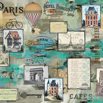 Digital Art - French Collage-c by Jean Plout