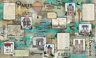 Digital Art - French Collage-a by Jean Plout