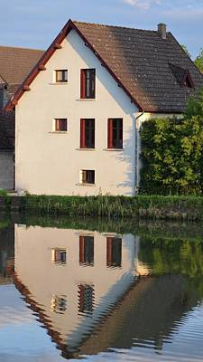 Photograph - French Cottage With Reflection by Cheryl Miller