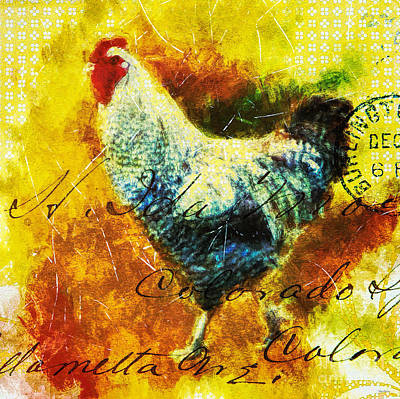 Digital Art - French Country Chicken by Tina LeCour