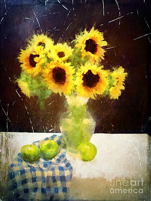 Digital Art - French Country Sunflowers by Tina LeCour