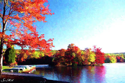Canoe Digital Art - French Creek Fall 020 by Scott McAllister