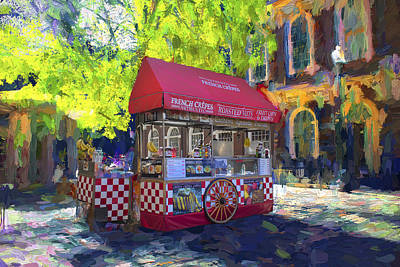 Photograph - French Crepes Cart by Carlos Diaz