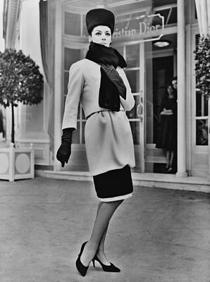 1950s Fashion Photograph - French Designer, Christian Dior by Everett
