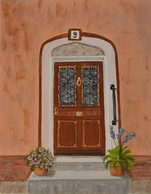 French Door Number Nine  Art Print by Nancy Otey