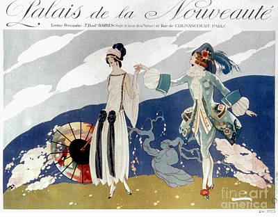 Photograph - French Fashion Ad, 1923 by Granger