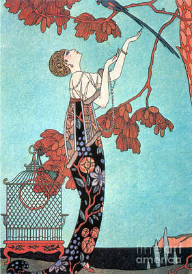 French Fashion, George Barbier, 1914 Art Print by Science Source