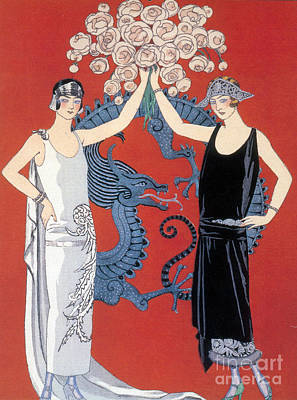 Knights Beach Photograph - French Fashion, George Barbier, 1924 by Science Source