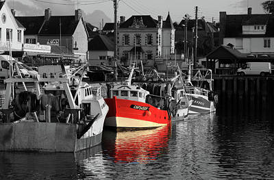 Photograph - Red Fishing Boat by Aidan Moran