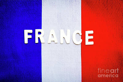 Photograph - French Flag by Anna Om