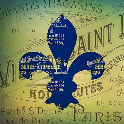 Fleur De Lis Digital Art - French Fleur De Lis V2 by Brandi Fitzgerald