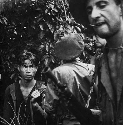 Colonial Troops Photograph - French Foreign Legionnaires With Viet by Everett