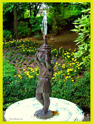 Digital Art - French Fountain by Joan  Minchak