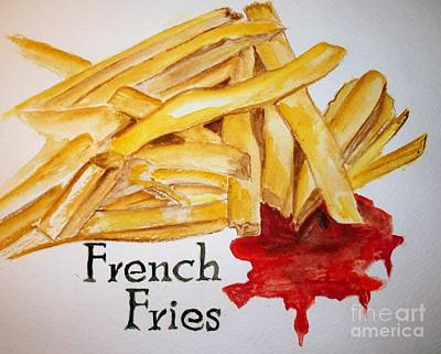 French Fries Art Print by Carol Grimes