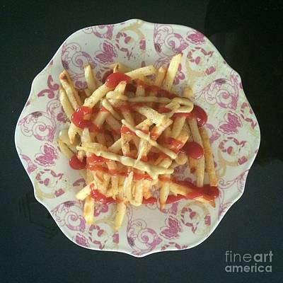 Photograph - French Fries  by Robin Maria Pedrero
