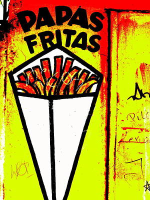 French Fries Santiago Style  Print by Funkpix Photo Hunter