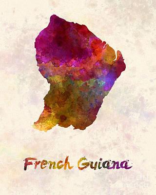 French Guiana In Watercolor Art Print by Pablo Romero