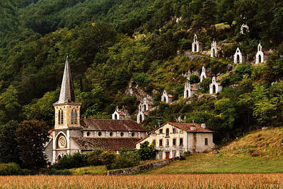 Photograph - French Hillside Church by Joe Bonita