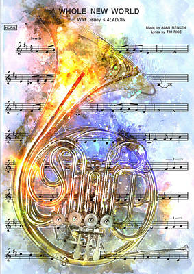 Symphonic Painting - French Horn Music 2 - By Diana Van by Diana Van