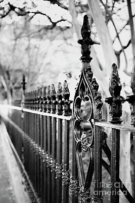 Photograph - French Huguenot Church Fence by Heather Green