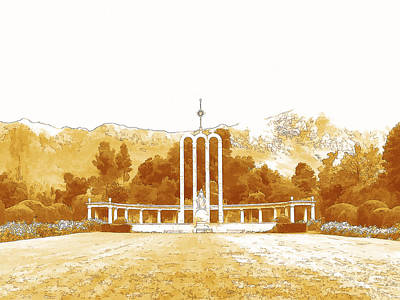 Digital Art - French Huguenot Monument In Franschhoek  by Jan Hattingh