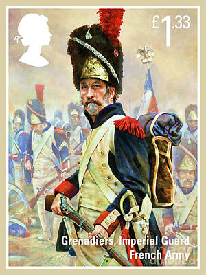Painting - French Imperial Guard Grenadier by Lanjee Chee