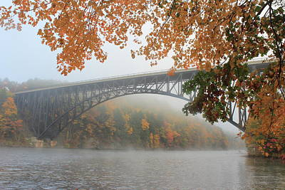 Photograph - French King Bridge Autumn Fog by John Burk