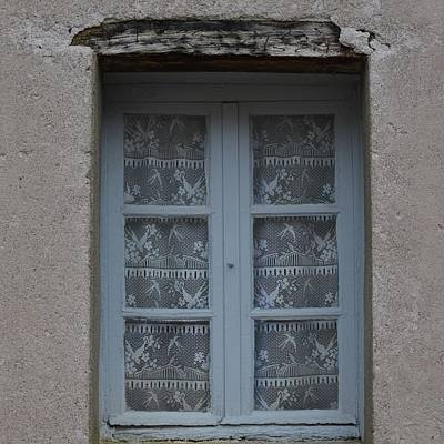 Photograph - French Lace Curtains by Cheryl Miller