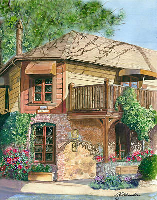 French Laundry Painting - French Laundry Restaurant by Gail Chandler
