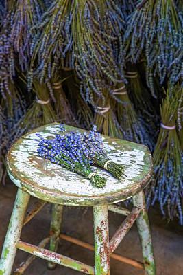 Photograph - French Lavender Bundles by Susan Candelario