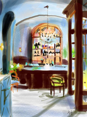 Painting - French Lounge by Hugh Chapman