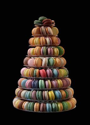 Photograph - French Macarons by Rona Black