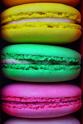 Almond Photograph - French Macaroons by Garry Gay