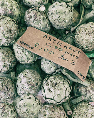 Country Cottage Photograph - French Market Finds - Artichoke by Georgia Fowler