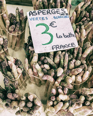 Country Cottage Photograph - French Market Finds - Asparagus by Georgia Fowler