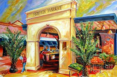 French Quarter Painting - French Market Sunshine by Diane Millsap