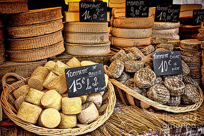 Fromage Photograph - French Mountain Cheese by Olivier Le Queinec