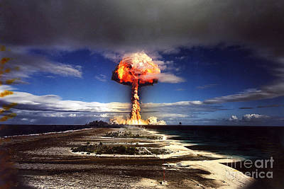 A-bomb Photograph - French Nuclear Test Licorne, 1970 by Science Source