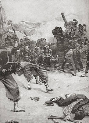 French Papal Zouave Infantry Soldiers Art Print by Vintage Design Pics