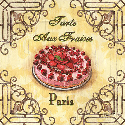 Pies Painting - French Pastry 1 by Debbie DeWitt