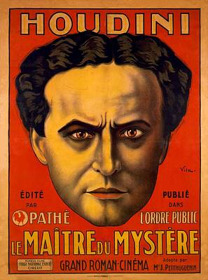 Houdini Photograph - French Poster Advertising Harry by Everett