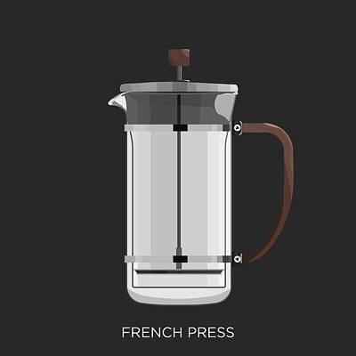 French Press, Coffee Maker Art Print