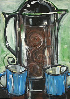 Painting - French Press Pot by Tim Nyberg