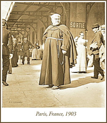 Photograph - French Priest In Cossack, C. 1903 by A Gurmankin