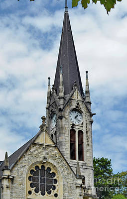 Photograph - French Protestant Church In Biel by Michelle Meenawong